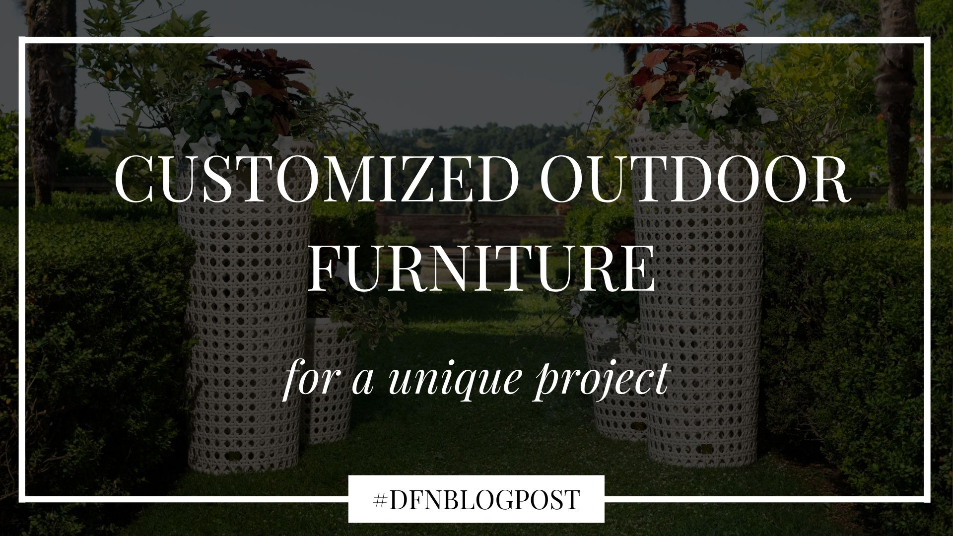 customized outdoor furniture
