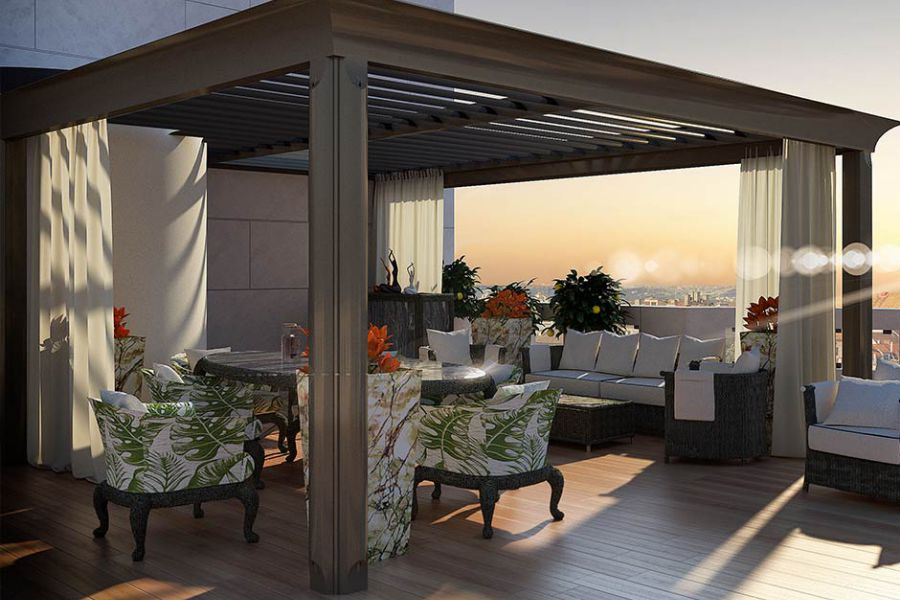 Effectively shade an outdoor patio -  Bioclimatic Pergola