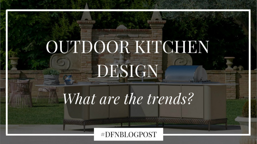 What are the trends in outdoor kitchen design