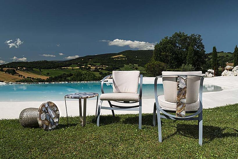 What are the best materials for luxury outdoor furniture? Chair Table