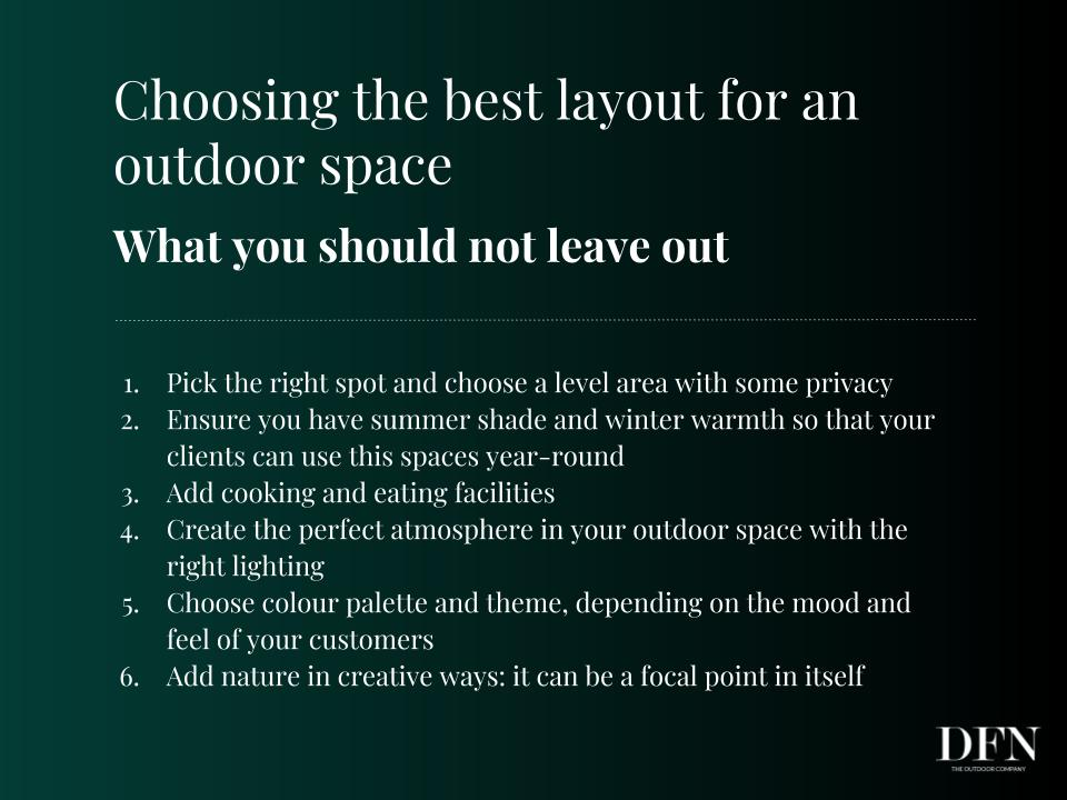 choosing the best layout for an outdoor space-tips