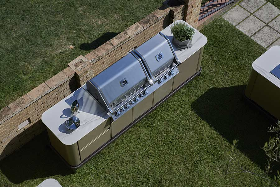 How to design a luxury outdoor kitchen barbecue