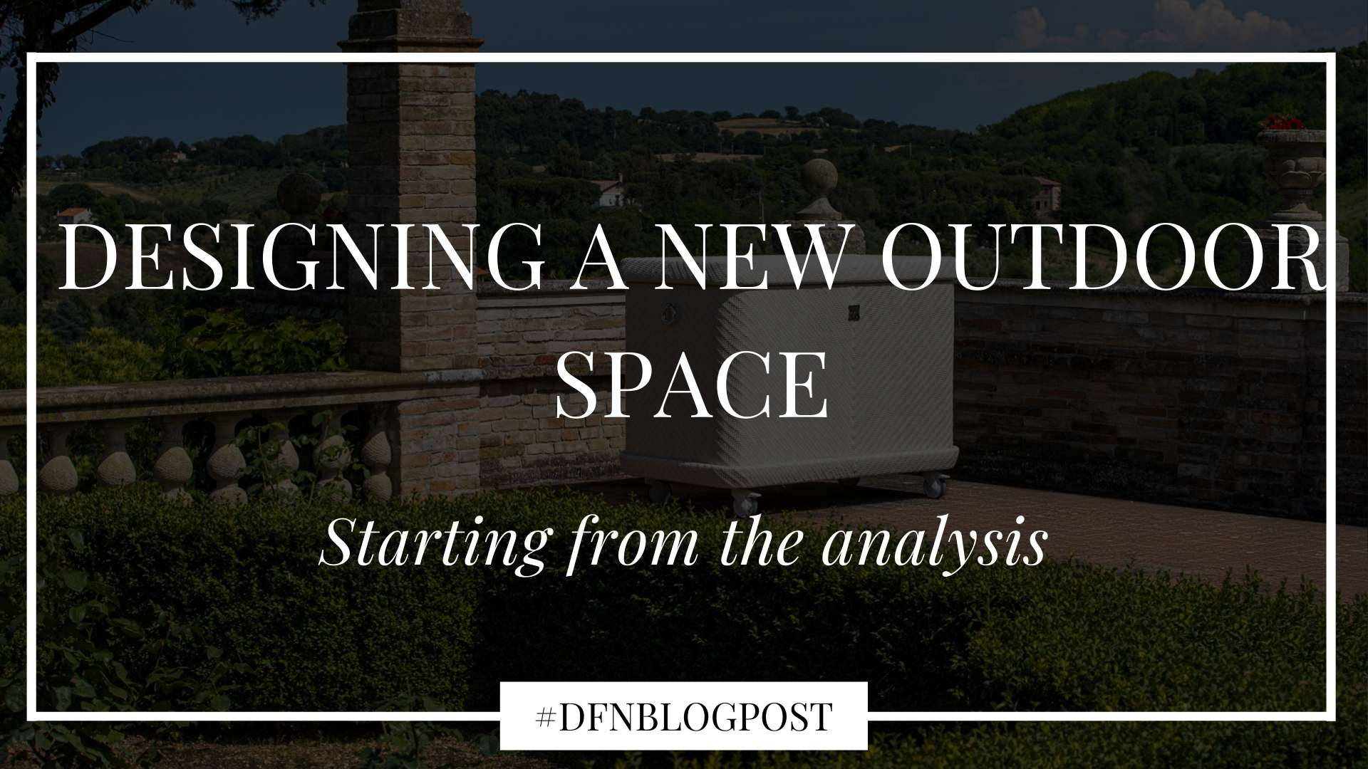 Designing a new outdoor space: starting from the analysis