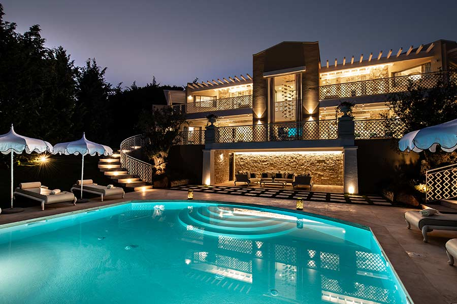 The best outdoor design process for your clients' villa outdoor villa night