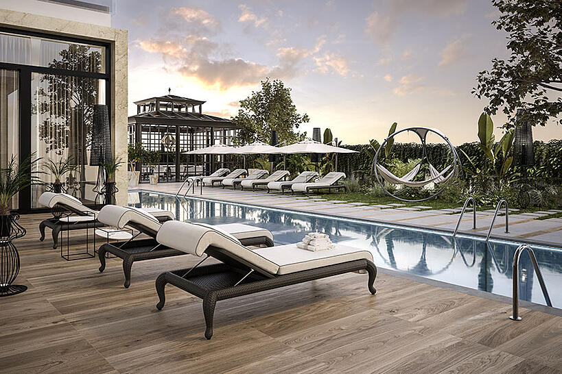 5+1 tips to keep in mind when designing a poolside lounge furniture pool