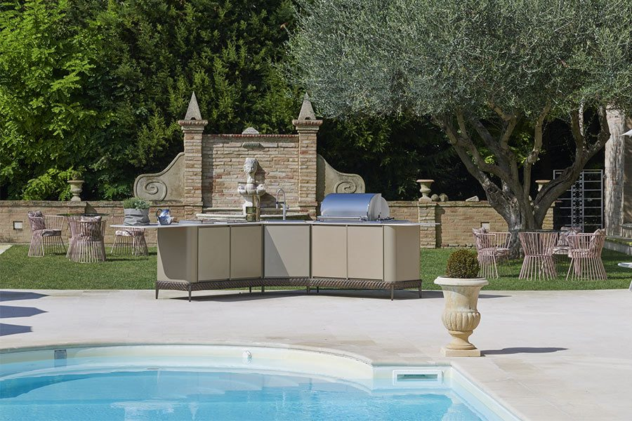 L-shaped outdoor kitchens: DFN solutions 2