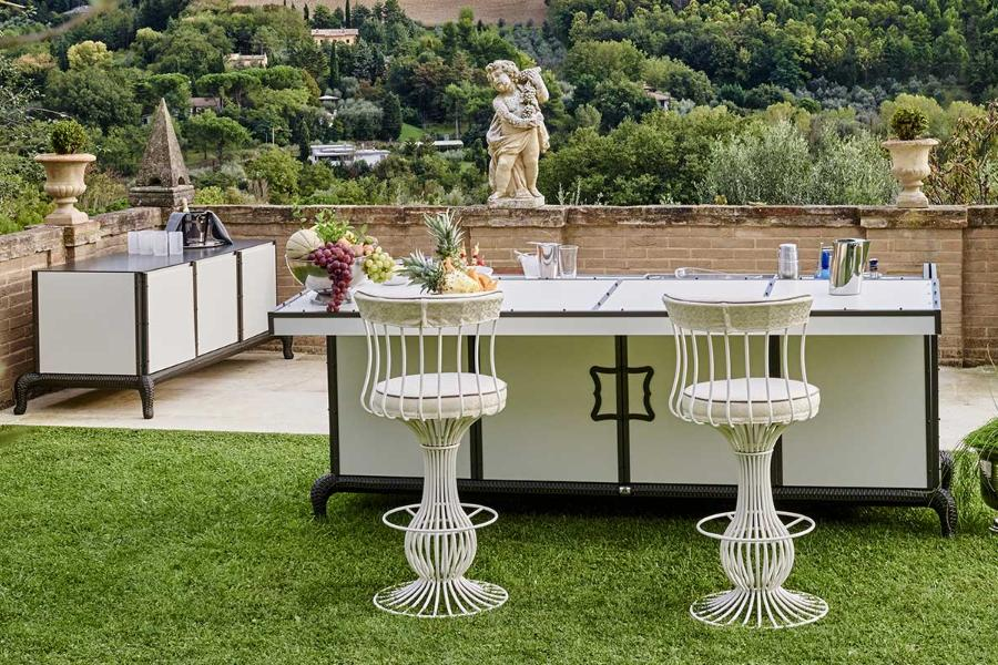L-shaped outdoor kitchens: DFN solutions 1