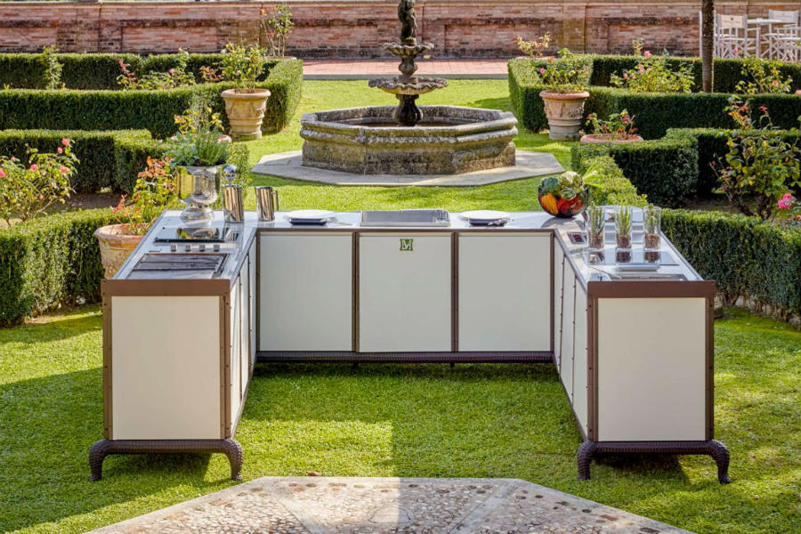 Luxury outdoor kitchen: ideas to furnish an outdoor space 4