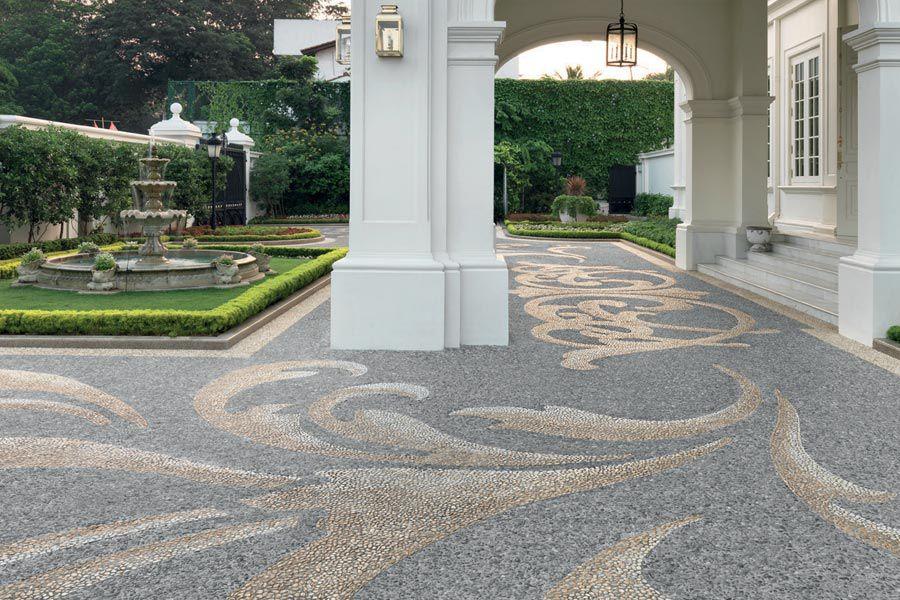 outdoor flooring options - mosaics