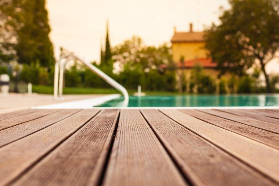 best outdoor flooring options - wood