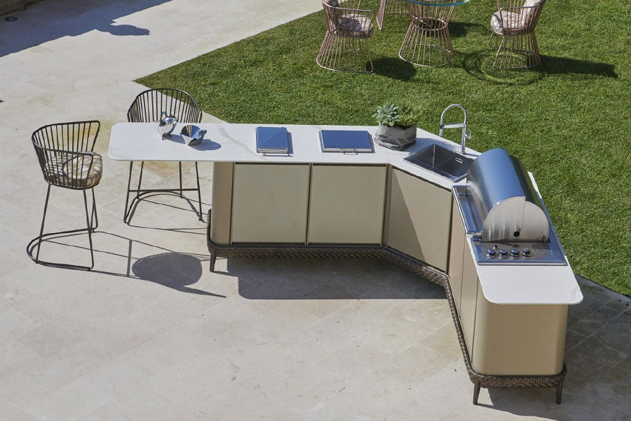 L-shaped outdoor kitchens: DFN solutions 4